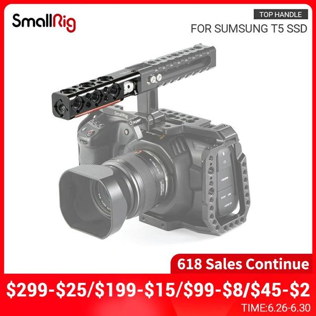 SmallRig DSLR Camera Cage Handle Grip Top Handle Straight Extension With 1/4 Thread Holes And Arri Locating Holes HTR2297