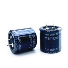 Condensateurs électrolytiques radiaux en aluminium 63v 6800uf, 63v 6800uf, bonne qualité, tolérance 20%, taille 30x30 20%, 2 pièces