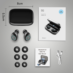 Image 5 - TWS Bluetooth V5.0 Earphone Wireless Headphones Noise Cancelling  IPX6 Waterproof 6D Stereo Sport Headset Earbuds 4000mAh Power