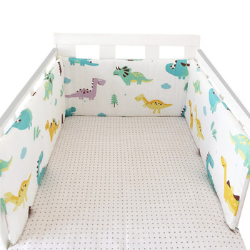 baby nursery Nordic Stars Design Baby Bed Thicken Bumper One-piece Crib Around Cushion Cot Protector Pillows Newborns Room Decor 13