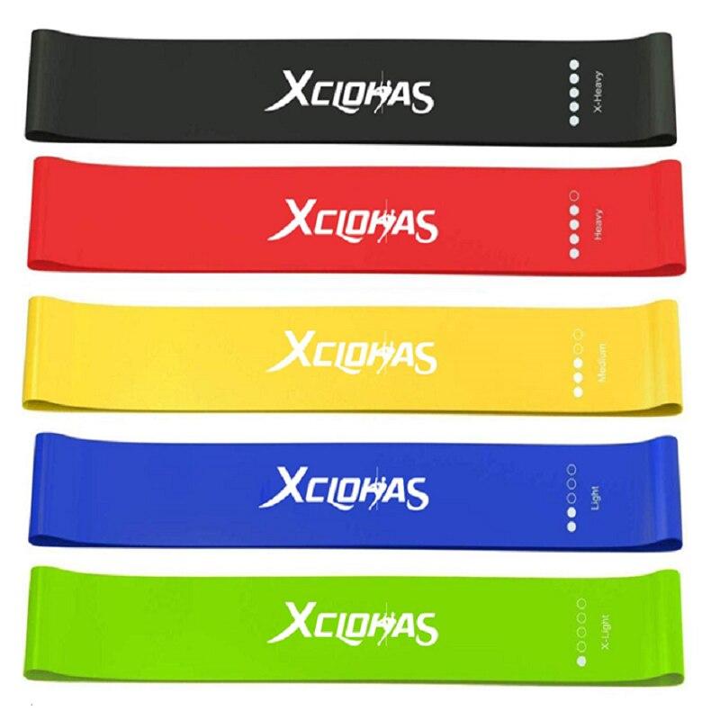 1xYoga Crossfit taśmy oporowe 5 poziom gumowe szkolenia ciągnąć linę do uprawiania sportów Pilates Expander Fitness gumy siłownia sprzęt treningowy