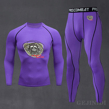 Men's New Compression Ski Underwear Set Track Suit Male High-Quality Running Sportswear Fitness Shirt Training Wear 2021