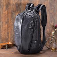 MAHEU Solf Leather Black Backpack Sheepskin Bag Big Schoolbag For Boy Men Male Female Lady Genuine Leather Bagpack Satchel