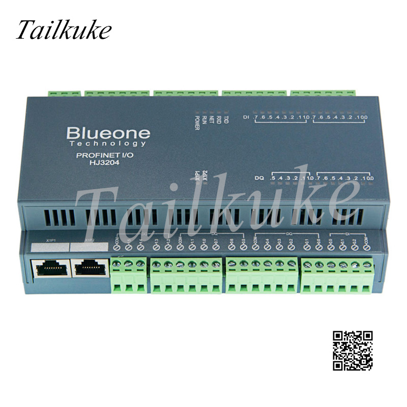 Profinet Remote Distributed IO Module IO 16DI 14DO 4AI RTU To PN Gateway GSD