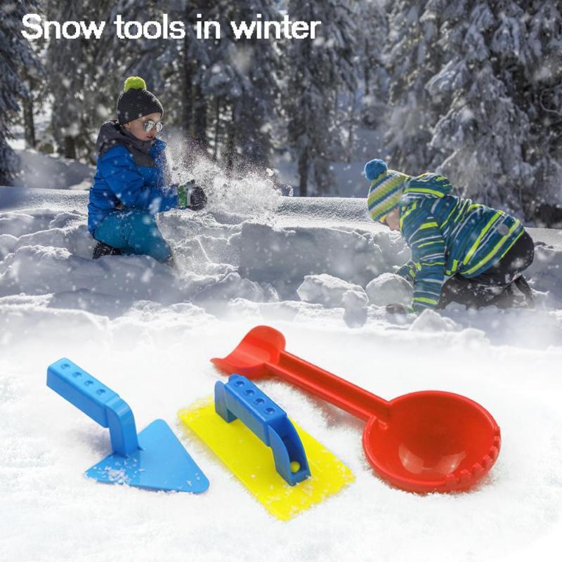 3pcs/Set Plastic Kids Winter Snow Shovel Toys Hand-eye Coordination Hand Flexibility Beach Sand Play Tools Kit Gifts