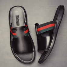 Coslony slides for Men top shoe brands shoes men trend summer men slippers stripe beach slipper shoes slide black sandals man