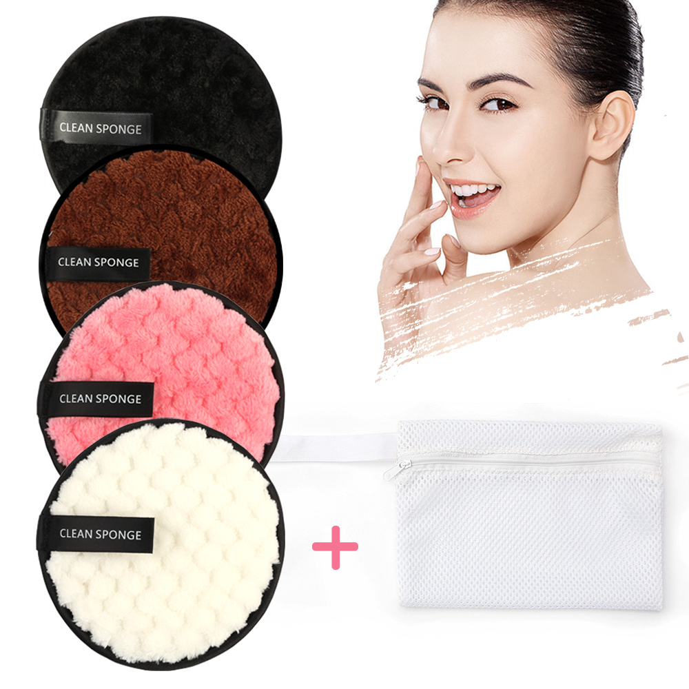Microfiber Cloth Pads Remover Face Cleansing Towel Reusable Cleansing Makeup Sponge Double Layer Nail Art Cleaning Wipe Tools 4