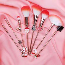8pcs Concealer Blush Loose Powder Make Up Brushes Set Gift Brush Foundation Cosmetic Eyeliner Eyebrow Eyeshadow