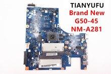 ยี่ห้อใหม่ G50 45 ACLU5 ACLU6 NM A281 เมนบอร์ด DDR3 สำหรับ LENOVO G50 45 แล็ปท็อป E1 6010 (สำหรับ AMD CPU) ทดสอบ 100% ทำงาน