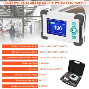 Image 2 - KKmoon CO2 Meter Carbon Dioxide Detector Air Quality Detector Monitor CO CO2 HCHO TVOC Detector CO2 Messgerät for Office Outdoor