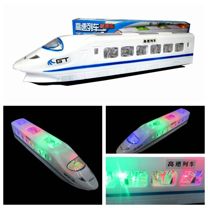 Children Universal Toy Car Electric Flash High-Speed Model Train Harmony CRH High-Speed Rail Train