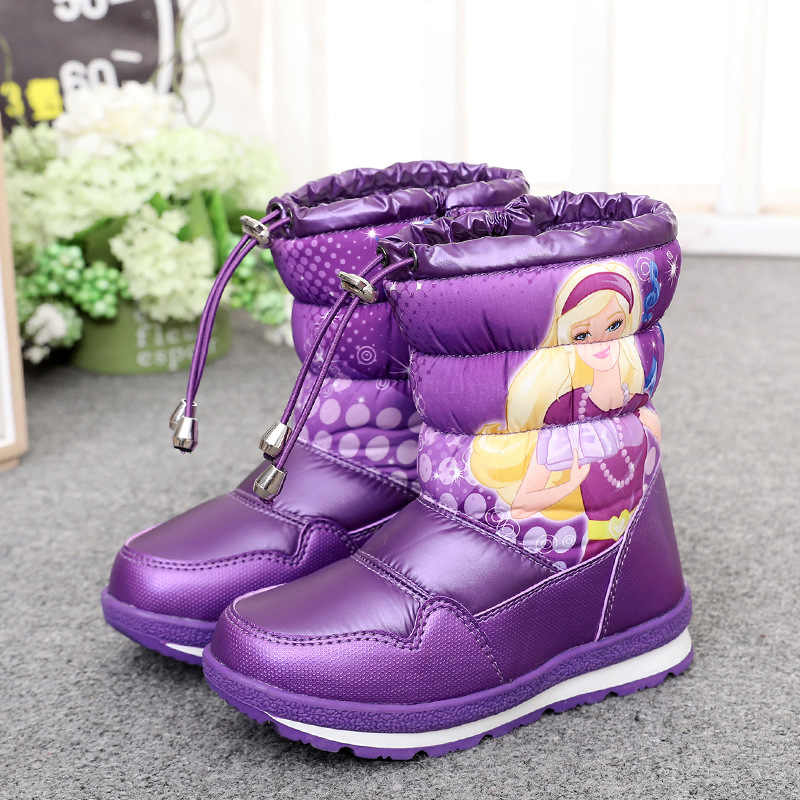 Kinder schuhe Mädchen stiefel 2020 neue winter Schnee stiefel Wasserdichte stiefel Prinzessin kinder schuhe plus samt Erwärmung stiefel