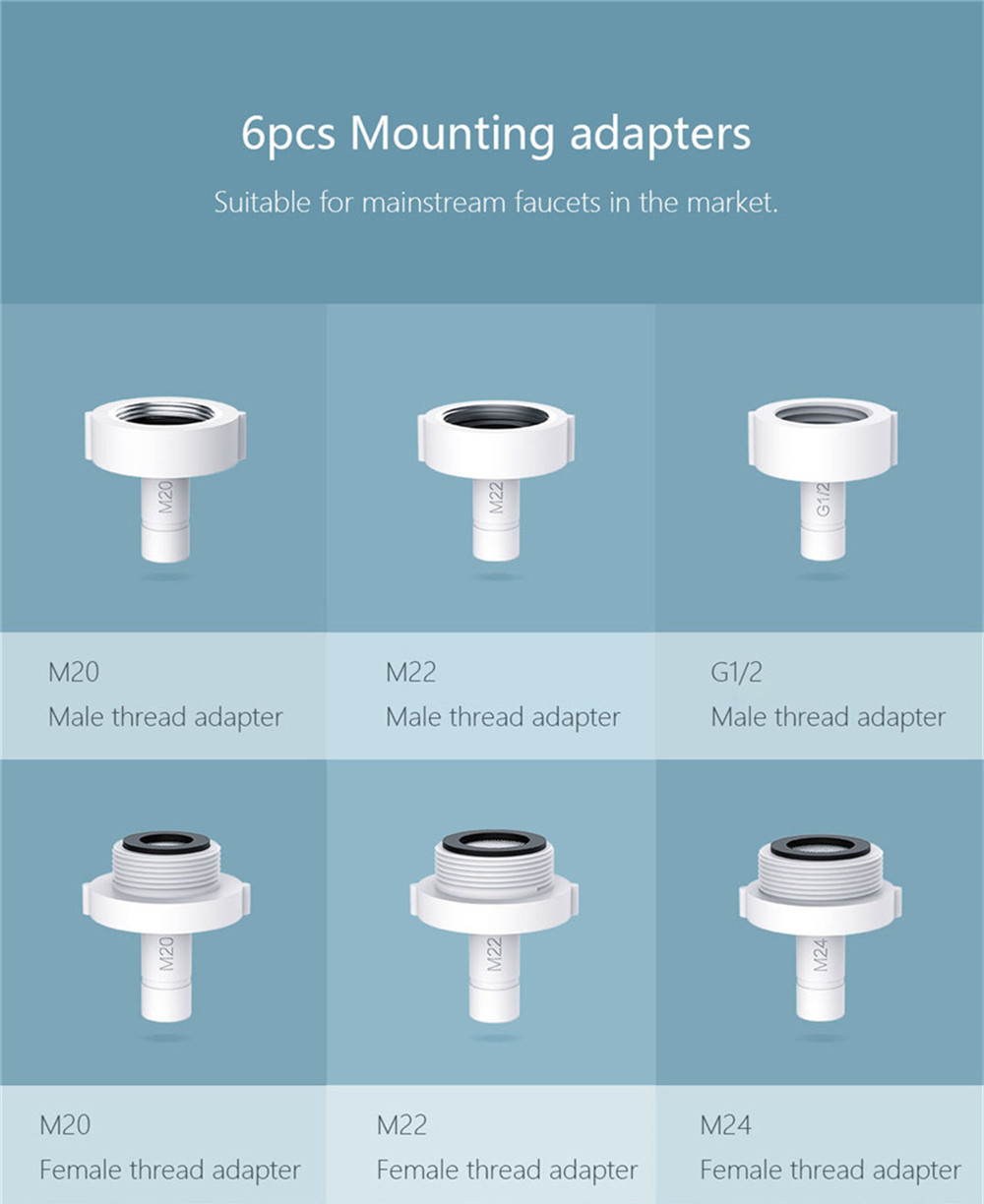 New Xiaomi Youpin Automatic Water Saver Tap Smart Faucet Sensor Infrared Water Energy Saving Device Kitchen Nozzle Tap