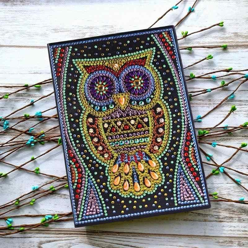 Christmas Diamond Lukisan DIY Notebook Khusus Berbentuk Diamond Bordir 50 Halaman A5 Sketchbook Menggambar Buku Natal Hadiah