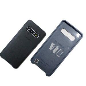 Image 5 - Samsung S10 Cassa Gazzetta Originale Vera Pelle Scamosciata di Cuoio di caso di samsung s10 plus caso della Protezione del telefono Per La Galassia S10e S10 + copertura