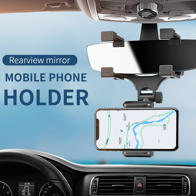 Rear-view Mirror Phone Mount 1