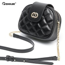 ZOOLER 2019 Genuine Leather Bags Women Cow Leather Tote Bag Cross Body Chains Woman Messenger Bag Luxury Leather Purse Hot B251(China)