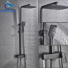 Faucet Taps Shower-Set FMHJFISD Black Luxury Cold Hot And