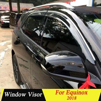 For Chevrolet Equinox 2018 Plastic Black Window Visor Vent Shades Sun Rain Deflector Guard Auto Accessories 4PCS/SET