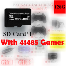 64g 128g 256g cartão sd para super console x pro 4k hd retro console de jogos para psp/ps1/dc/n64, console de jogos de vídeo com 50000 + jogos