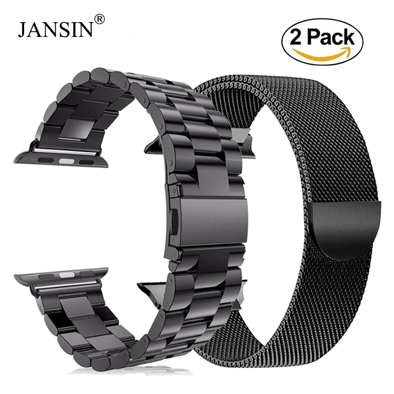 2 Pack Milanese Loop Band For Apple Watch Band Series 1/2/3/4 Iwatch 42mm 38mm 40mm 44mm Link Bracelet Stainless Steel Strap