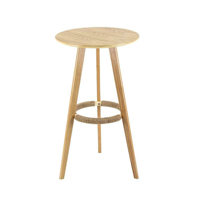 Solid Wood High Table Simple Small Round Table Coffee Table Home Bar Table Bar Table And Chair Combination
