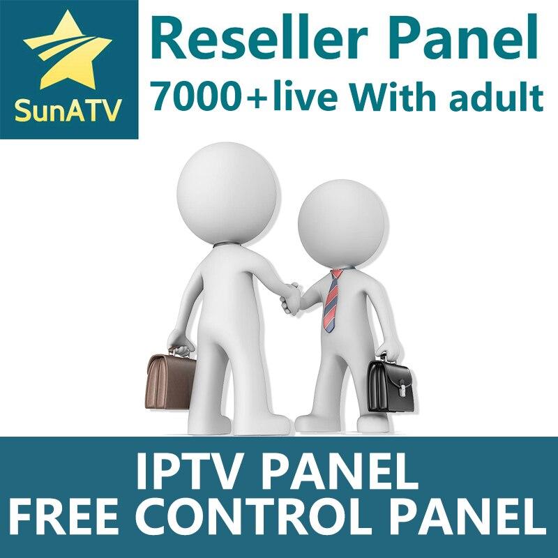 SUNATV revendeur panneau pays-bas IPTV français IPTV arabe anglais soutien Android m3u enigma2 7000 en direct + VOD Iptv adulte