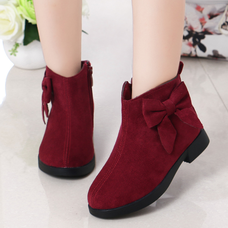 Winter Children'S Shoes Princess Boots Waterproof Boots 2019 Kids Girls Fashion Bow Warm Snow Boots 4 5 6 7 8 9 10 11 12 Years|Boots| |  - title=