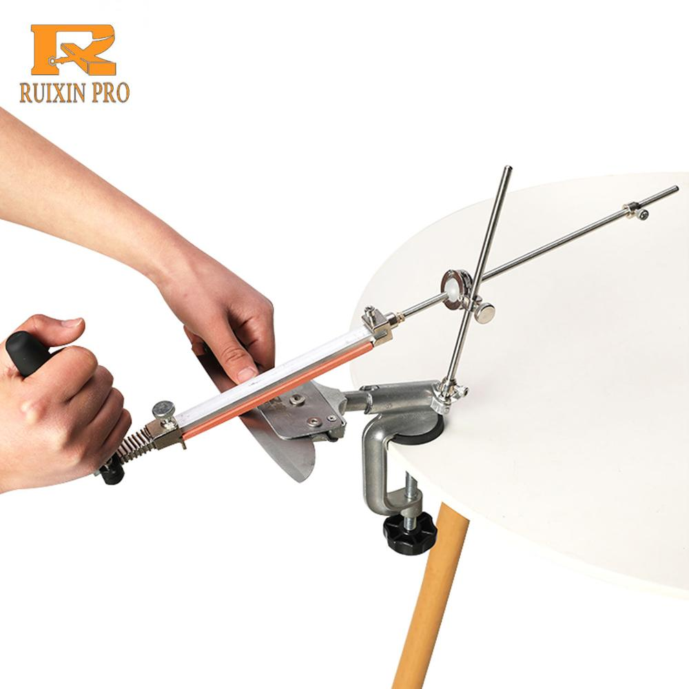 Ruixin Pro Aluminium Alloy Knife Sharpener System 360 Degree Flip Constant Angle Grinding Tools Grinder