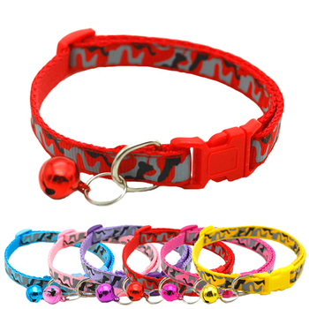 Easy Wear Cat Dog Pet Collar with Bell Adjustable Buckle Dog Collar Cat Puppy Pet Supplies Accessories Small Dog Chihuahua Name image