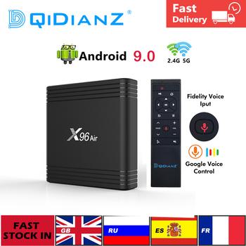 Android 9 0 X96air Smart TV Box Amlogic S905X3 2 4G i 5G podwójny Wifi x96 4K Youtube Google Play odtwarzacz multimedialny pk h96 hk1max tanie i dobre opinie DQiDianZ 100 M CN (pochodzenie) Amlogic S905X3 64-bit quad core ARM CortexA 64 GB eMMC Brak 4G DDR3 X96 Air 0 47kg DC 5 V 2A