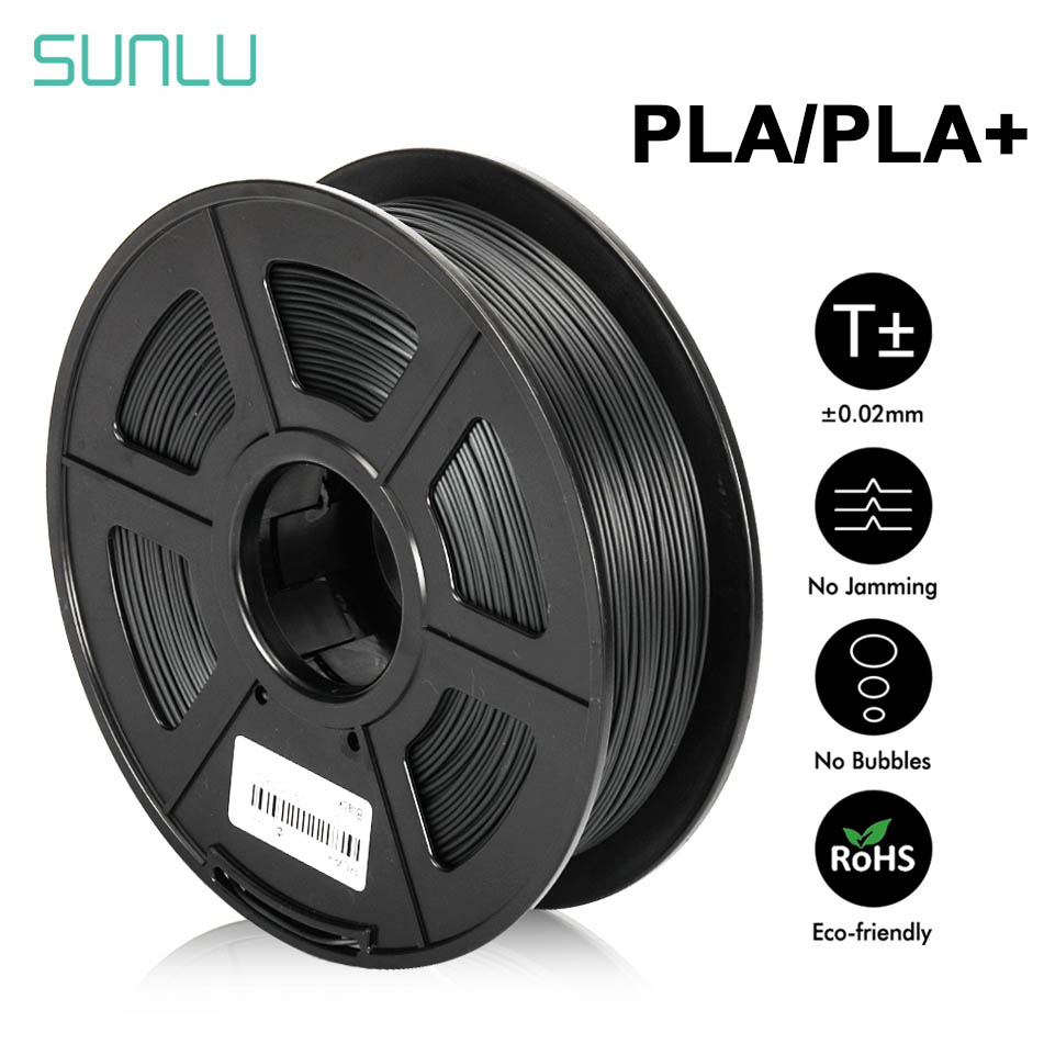SUNLU PLA PLUS Filament 1.75mm 1kg 3d Printing Materials Multi-colors For Choose Plastic PLA 3d Filament Fast Shipping