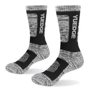 Image 5 - YUEDGE мужские носки дышащие комфортные хлопковые подушки, спортивные походные носки 5 пар 38 45 EU