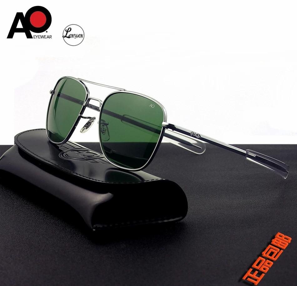 Aviação óculos de sol das mulheres dos homens 2020 uv400 exército americano militar óptica ao óculos piloto retângulo de sol masculino