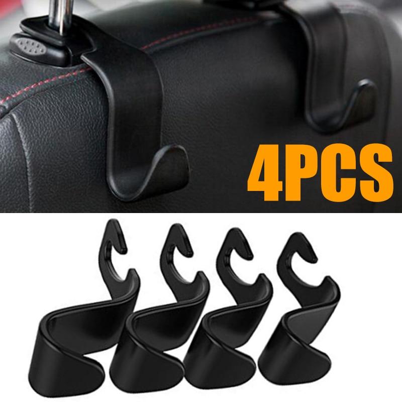 4pcs/lot Universal Car Seat Back Headrest Mount Storage Hook Mini Car Vehicle Back Seat Headrest Hook High Quality Car Coat Hook