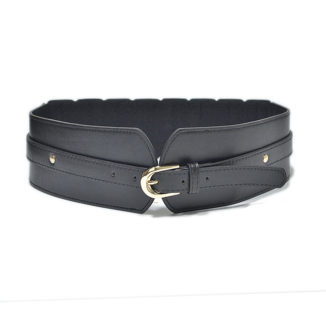 Luxury ladies wide belt elastic vintage buckle leather wide fashion wild pin buckle women's belt waist seal belt x208 2