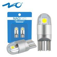 NAO T10 светодиодный W5W 3030 автомобильный светильник белый 5W5 WY5W 168 194 автомобильные аксессуары поворота зазор сигнала лампы для чтения настольн...