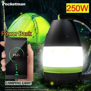 250W Emergency Light Portable LED Camping Lantern USB Rechargeable Solar Flashlight Lantern for Hiking,Fishing