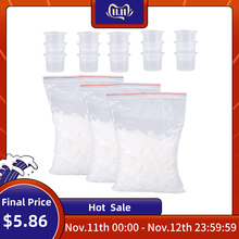 1000 Pcs/Bag Microblading Tattoo Ink Cup Cap Pigment Clear Holder Container S/M/L Size For Needle Tip Grip Tattoo Power Supply
