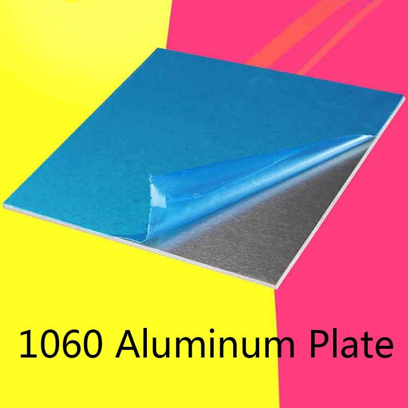 1060 алюминиевая плоская плата 1/2/3/4/5 мм, детали для машинного оборудования, лист чистого алюминия, алюминиевый лист, настраиваемый, электриче...