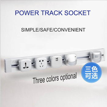 Aluminum Alloy Track Wall Socket 3 Colors 8000W EU Standard Electrical Plug Socket Power Outlet Panel 250V 60cm 80 1m 1.2m 100CM leory table pop up electrical socket eu plug 3 4 5 power plug sockets 2 usb charge outlet 250v 16a power indicator aluminum