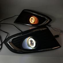 Противотуманная фара Osmrk, светильник дальнего света в сборе для chevrolet captiva-16 cob angel eye, светодиодные дневные ходовые огни, указатели поворота