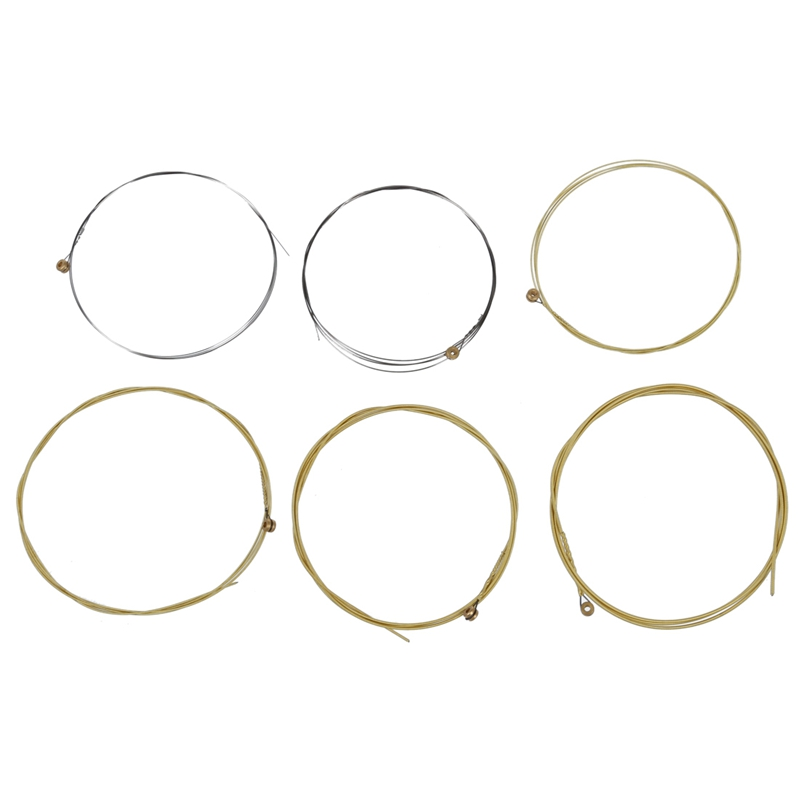 Set 6 Metal Strings For Acoustic Guitar 1 Meter 1M New