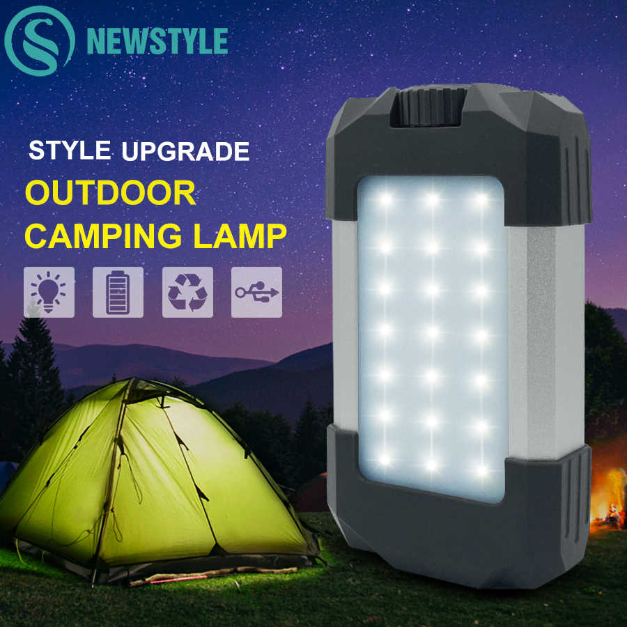 Camping Tent Lights Torch USB Rechargeable LED Lantern Outdoor Portable Hang Up