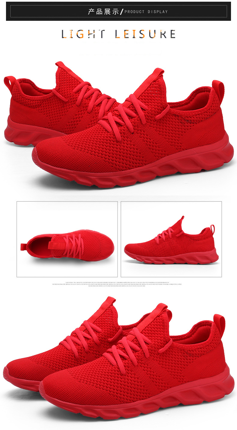 H8387034bca1243f1aeee928f814caaf07 Men Light Running Shoes Flyknit Breathable Lace-Up Jogging Shoes for Man Sneakers Anti-Odor Men's Casual Shoes Drop Shipping