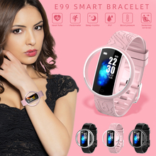 E99 Smart Bracelet IP67 Waterproof Band Watch Heart Rate Monitor Blood Pressure Monitoring Sports Fitness Tracker