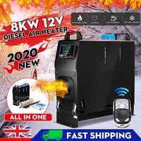 Tout en un Diesel réchauffeur d'air 12V 8KW voiture climatiseur numérique LCD moniteur télécommande voiture chauffage dégivrage Diesel réchauffeur d'air