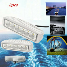 2Pcs  12V White LED Boat Light Deck Courtesy Bow Trailer Pontoon Waterproof Spot