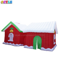 OCYLE outdoor giant Christmas inflatable house tent toy party advertising decoration with air 7X3X3 m free shipping