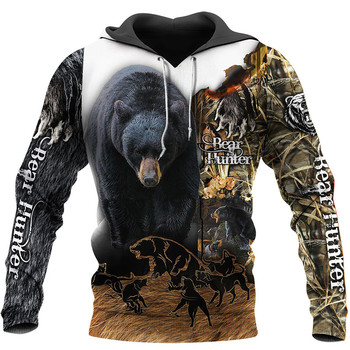 Bear Hunter Camo Full 3D Print - Sweatshirt, Hoodie, Pullover 1
